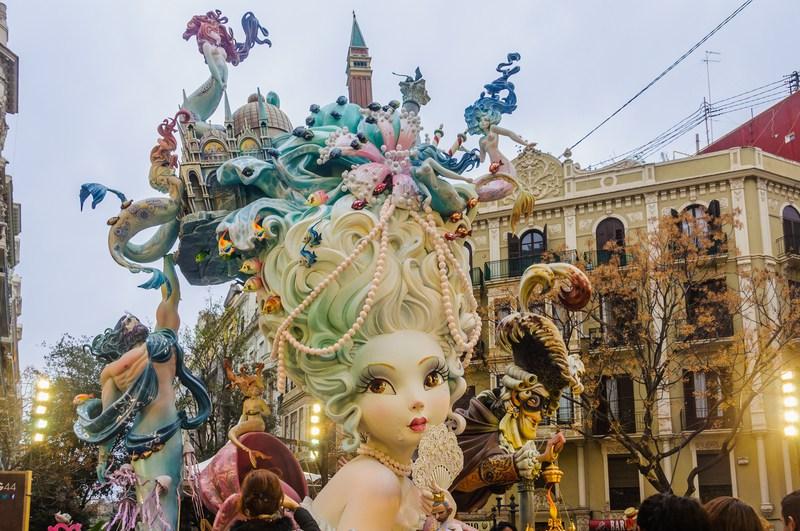 Valencia in March - Las Fallas
