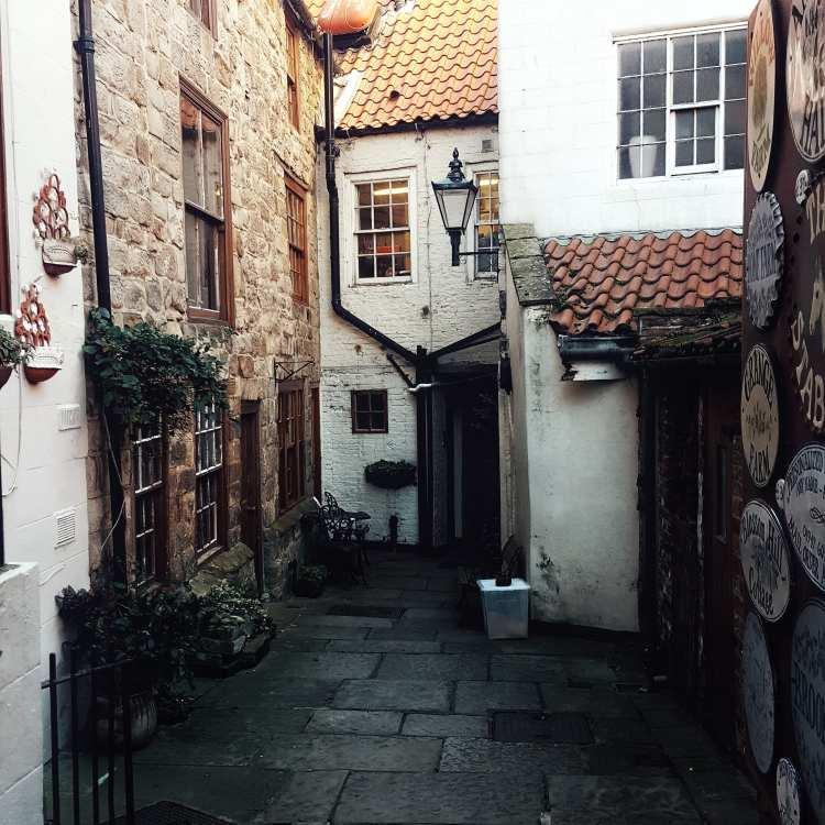 A beautiful alley tucked away off the streets of Whitby, North Yorkshire.