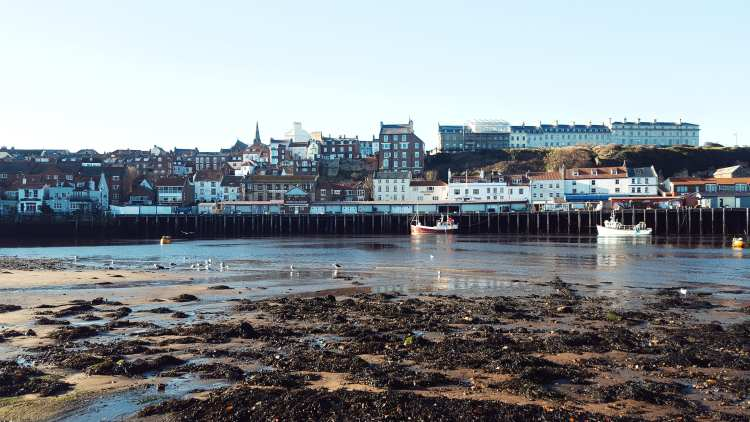 Whitby Harbour and sea front