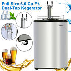 Full Size Commercial Brew Fridge Stainless Steel Dual Tap Home Beer Kegerator