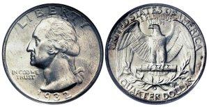 pre1965 washington quarters silver