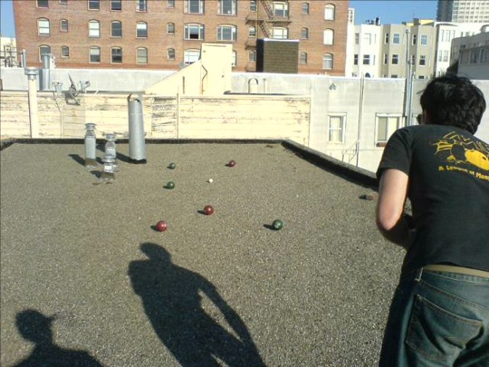 Rooftop bocce