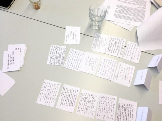 Remains of a Victory Boogie Woogie paper prototype playtest