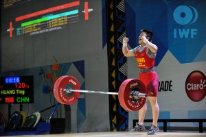 HUANG Ting (CHN) became 2015 Youth World Champion in the Women's 63kg bodyweight category after participating in the Chinese Weightlifting World Championships.(iwf.net)