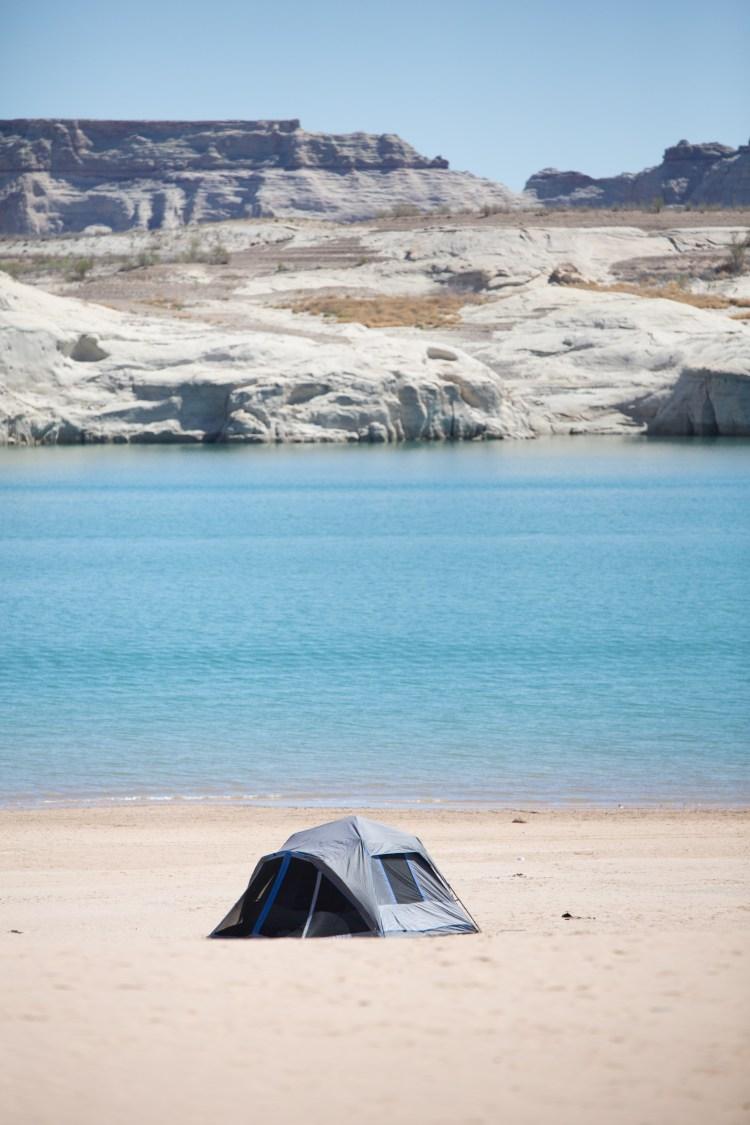 Camping at Lone Rock Beach