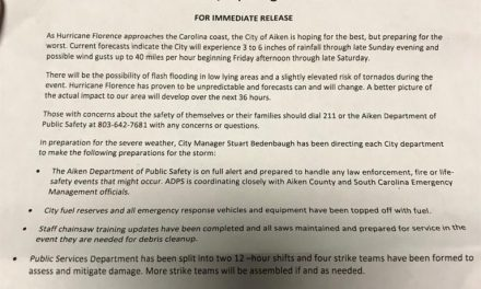 City of Aiken prepares for Hurricane Florence