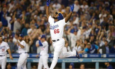 Puig's pinch-hit homer helps Dodgers sweep Rockies, 5-2