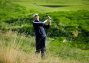 (AP Photo/Matt Dunham). Jordan Spieth of the US plays out of the rough on the 1st hole during practice at Le Golf National in Guyancourt, outside Paris, France, Tuesday, Sept. 25, 2018. The 42nd Ryder Cup will be held in France from Sept. 28-30, 2018 a...