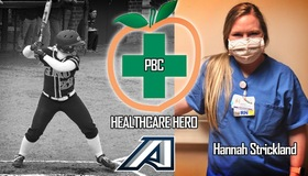 Hannah Strickland, former softball player, honored as a Peach Belt Conference Healthcare Hero