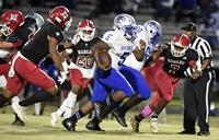 Harlem's offensive struggles reappear in lopsided loss to Burke County