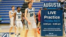 Augusta Men's Basketball Set to Stream Live Practice Nov. 5th