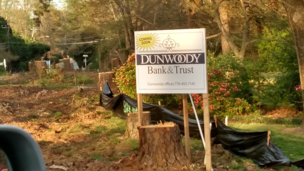 Dunwoody Bank and Trust. Kudos to our annual Aprils Fools prankster!