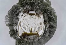 Tiny Planet - Brook Run Snow Dunwoody Parks and Rec