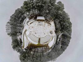 Tiny Planet - Brook Run Snow Dunwoody Parks and Rec