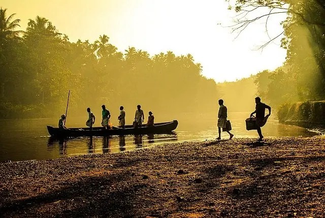 Morning in Kerala Village
