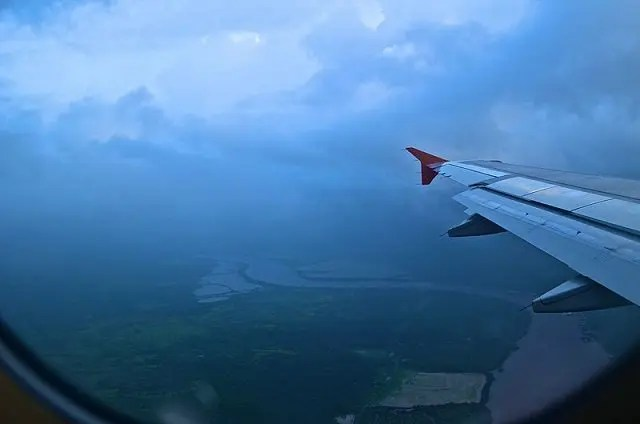 Flight over Goa's Zuari River