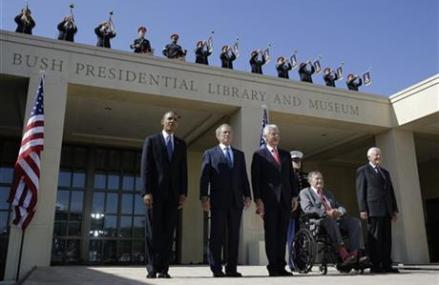 OBAMA, BUSH, CLINTON TO TRAVEL TO SOUTH AFRICA