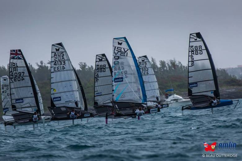 Kotoun racing Photo Credit Beau Outteridge/Amlin International Moth Regatta