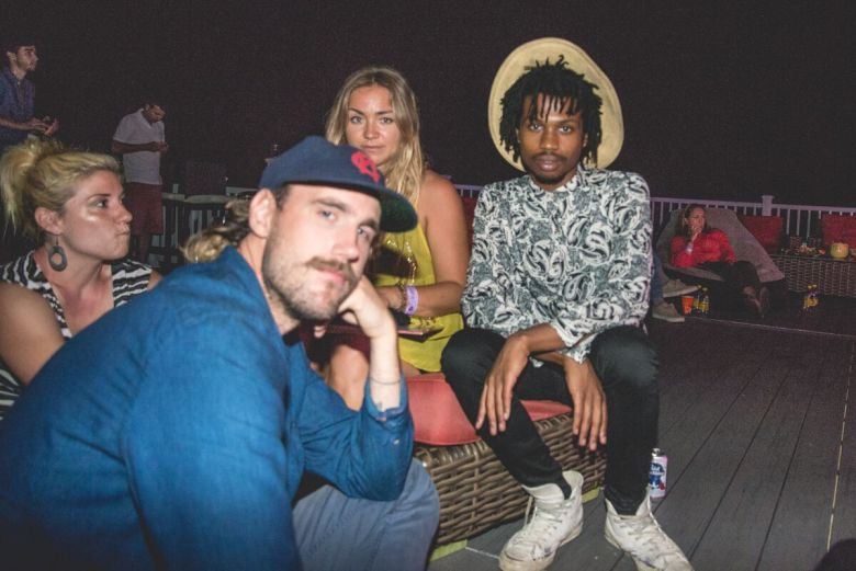 The ultimate mugshot of me with Raury and Rayland Baxter. Don't I look pretty?
