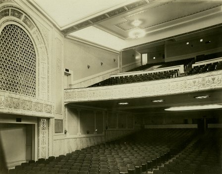 How the balcony looked after a 1950s restoration following fire damage.
