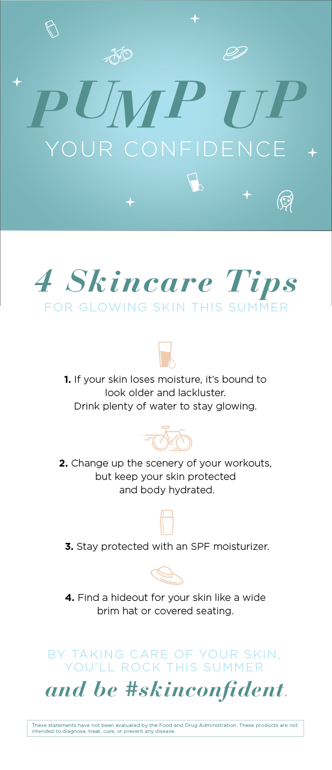 4 Summer Skincare Tips Infographic