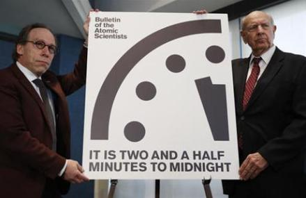 Scientists move Doomsday Clock 30 seconds closer to midnight