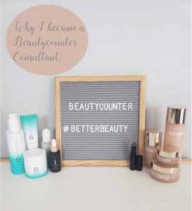 A board that says beautycounter #betterbeauty