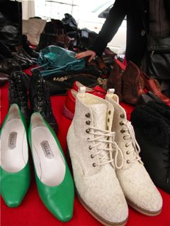 Vintage shoes at Noordermarket