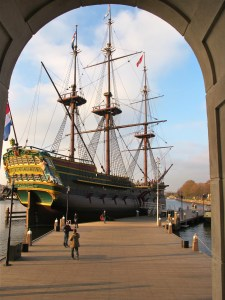 Replica of Dutch VOC ship