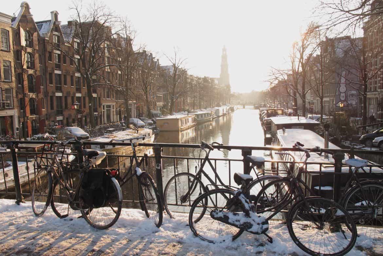 Prinsengracht winter Amsterdam