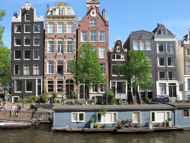 Skewed houses in Amsterdam