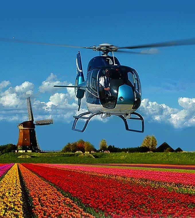Helicopter tour Keukenhof