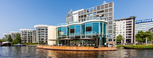 Riva, waterside terrace in Amsterdam.