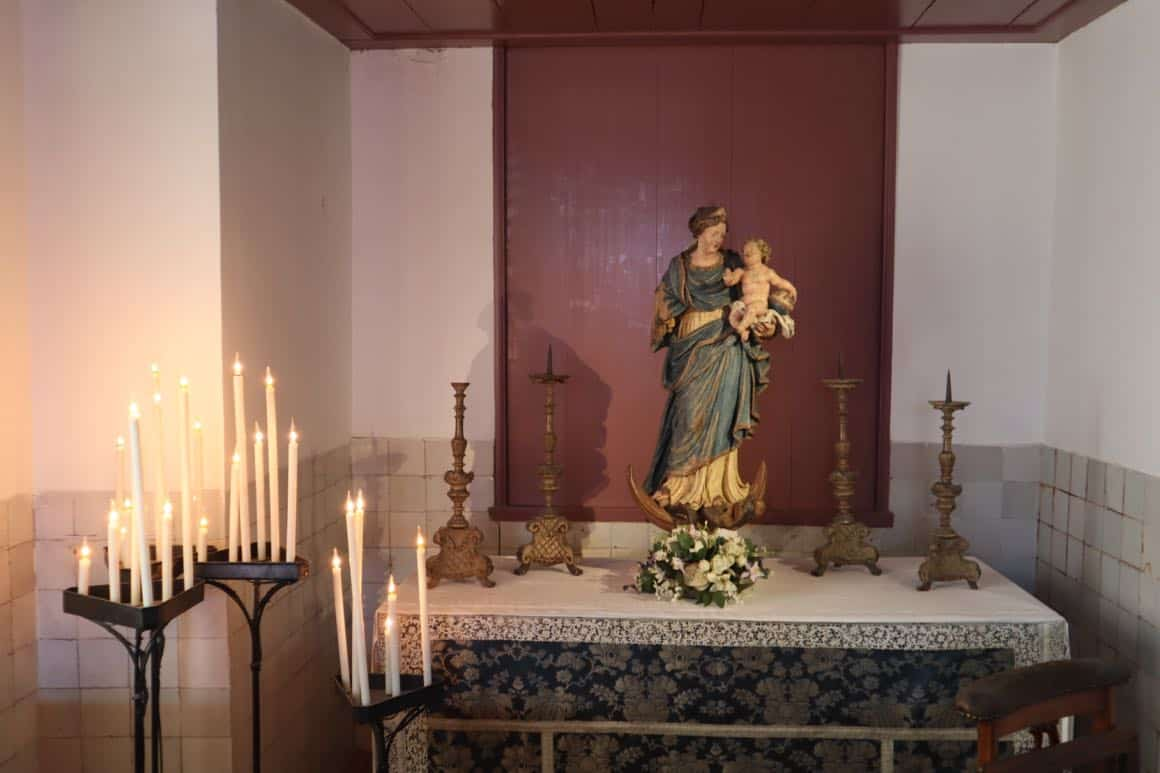 Statue of Mary at Our lord in het attic museum.