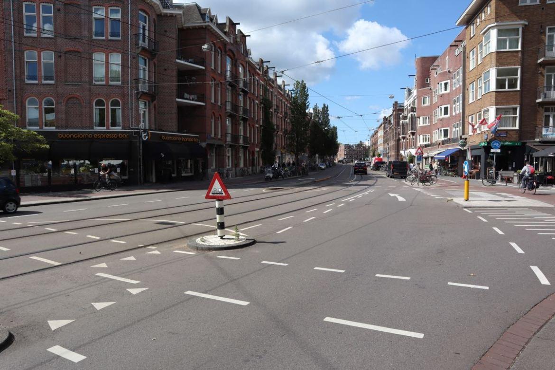 trams amsterdam bicycle