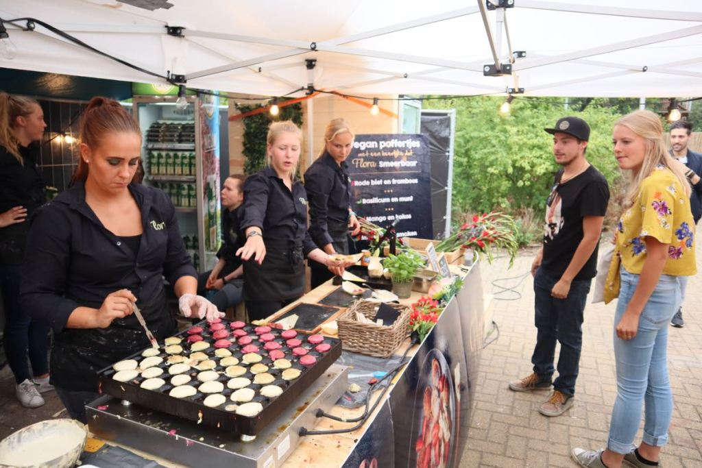 Dutch treat: poffertjes, small pancakes.