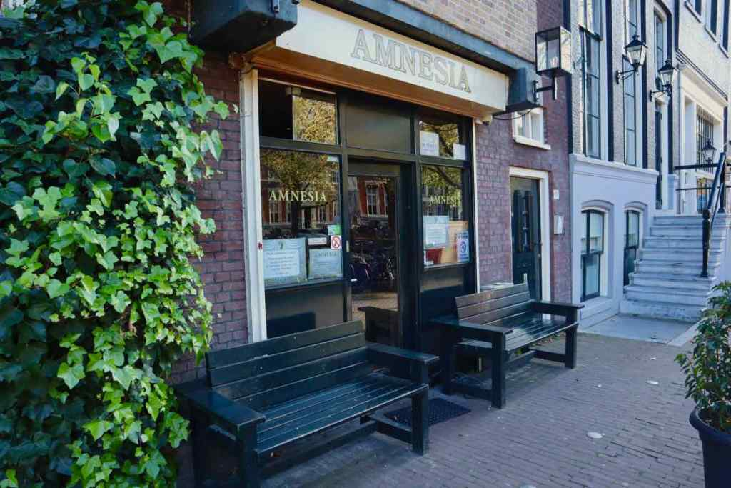 Coffeeshop Amnesia in Amsterdam.