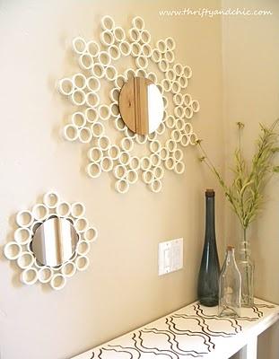 PVC pipe sunburst mirror