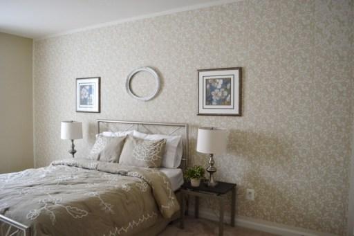 wall stencils, home story, stencil wall diy