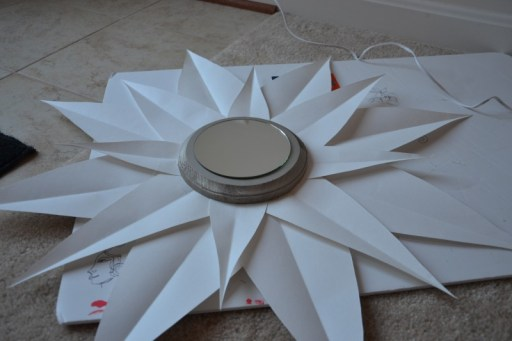 make your own sunburst mirror