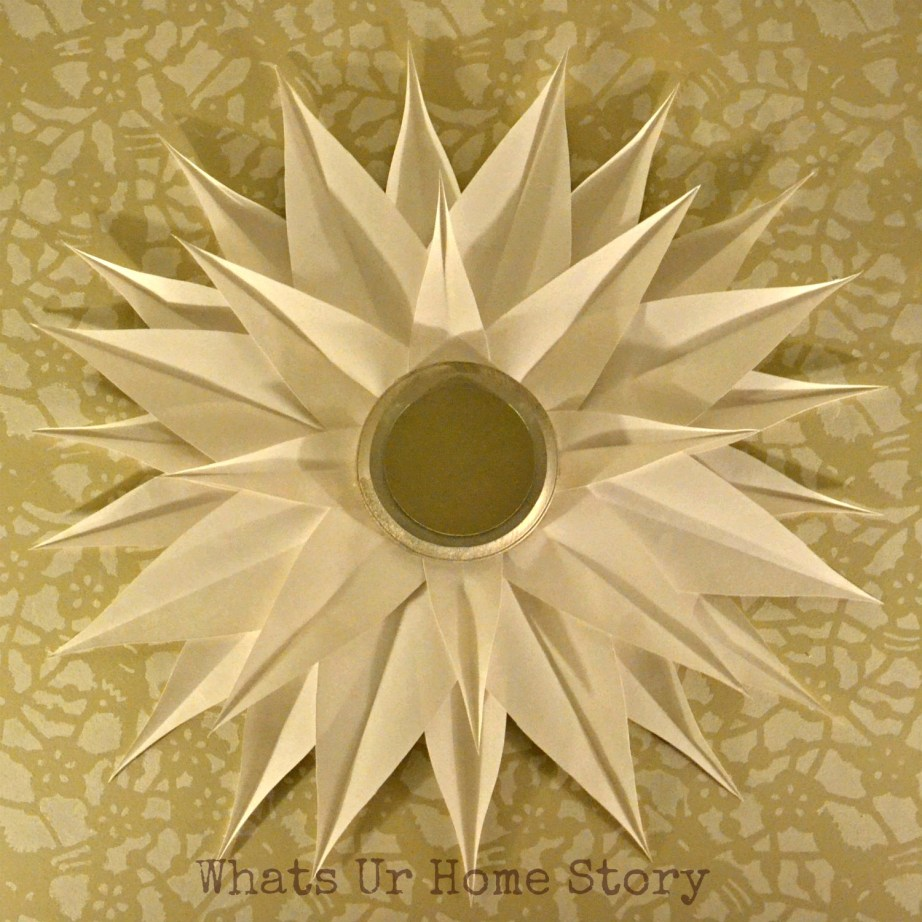 DIY Sunburst Mirror, Poster Board Sunburst Mirror