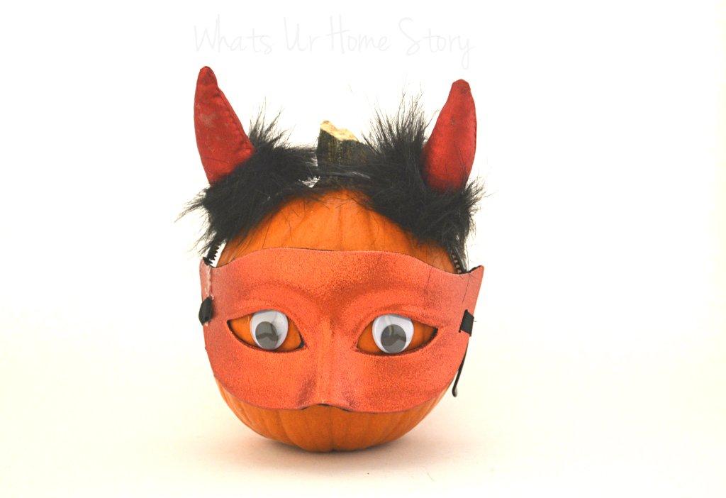 Whats Ur Home Story: Devil Pumpkin, Halloween decor