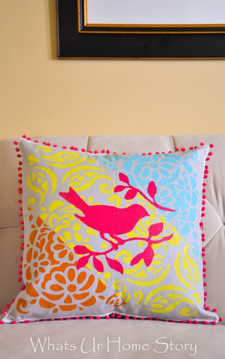 Layered Stencil Pillow