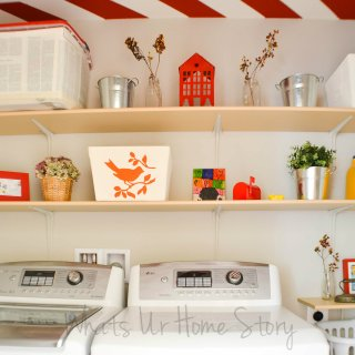 Simple DIY Wall Shelves for the Laundry Room
