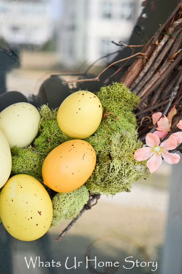 Moss and Easter Eggs spring wreath