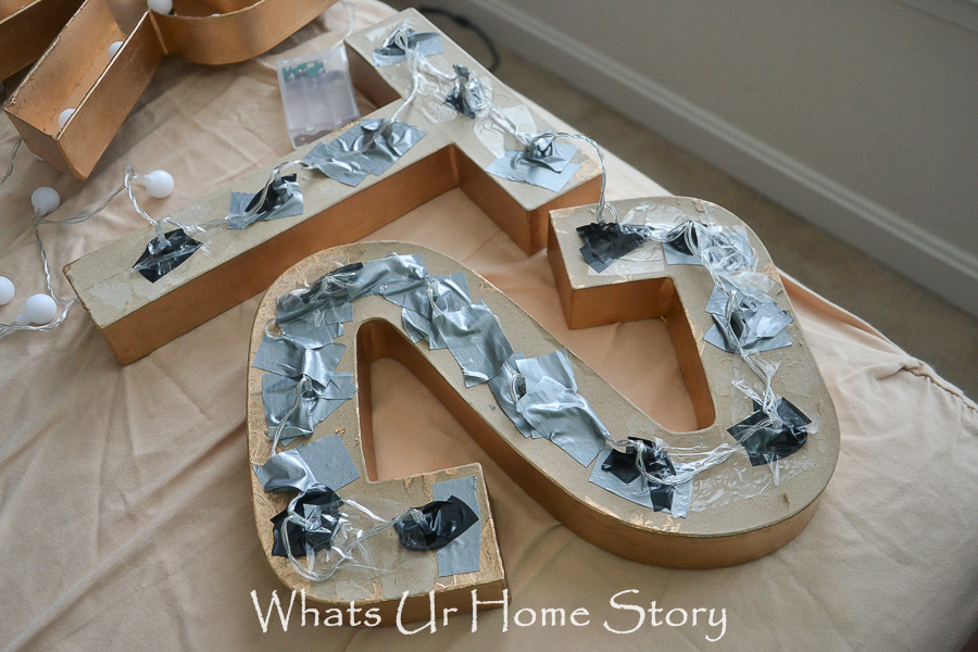 How to make a STAR DIY Marquee Letter Light