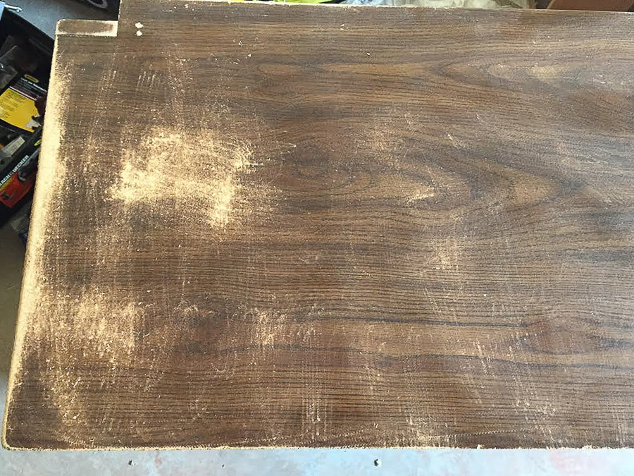 sanding laminate furniture to prep for paint