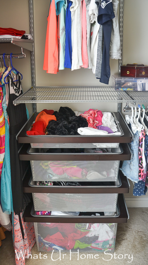 Add more storage to your closet with the elfa closet shelf system