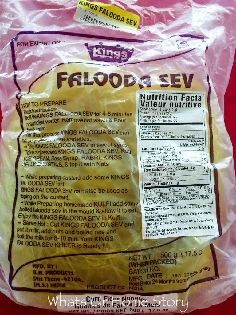 Noodles for making Falooda or Falooda Sev