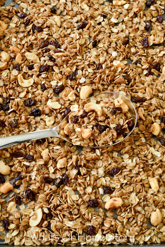 homemade cinnamon raisin granola recipe